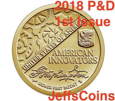 2018 P D S American Innovation Dollars Golden Proof + Box & COA 3 Coins PDS 18ga 4