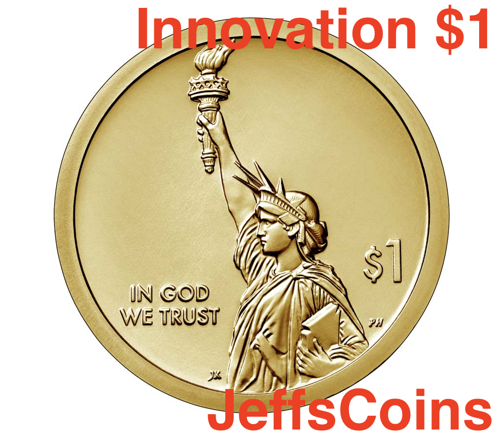 2018 P D American Innovation Golden Dollars 2 Best Grade $1 Coins PD US Mint NEW 3