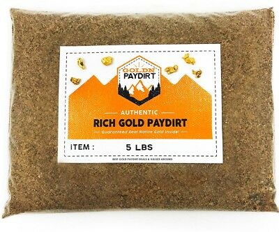 5 pounds bulk sample bag! UNSEARCHED PAYSTREAK gold paydirt!  LOADED WITH GOLD 2