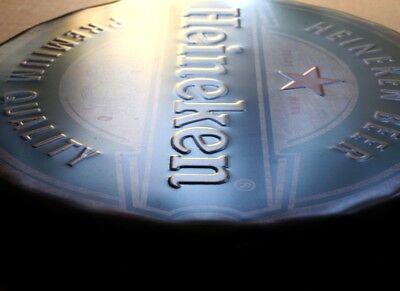 HEINEKEN Beer Amsterdam Geprägtes Blechschild MAKELLOS Bier Brauerei  KULT MARKE 2