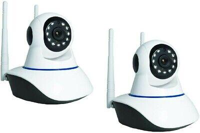 KIT 2 Telecamere IP CAMERA wi-fi HD 720p motorizzata infrarossi con app YOOSEE 2
