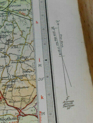 Bartholomews Revised Half inch Contoured ClothMap Great Briatin Sheet 9 Surrey 9