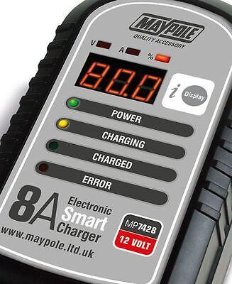 Maypole Optimiser 8A Caravan Leisure Motorhome Electronic Smart Battery Charger 5