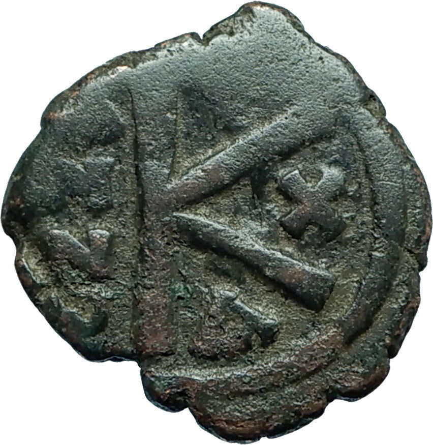 MAURICE TIBERIUS 582AD Constantinople Half Follis Ancient Byzantine Coin i66098 2