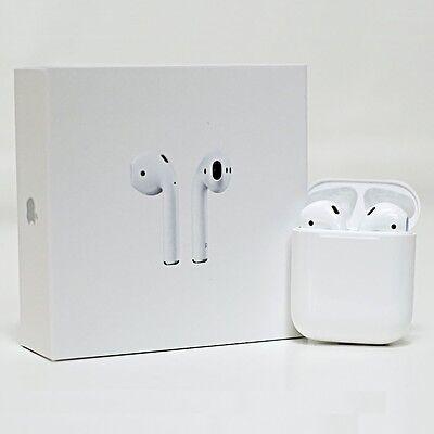 Apple AirPods White Genuine In-Ear Wireless Bluetooth Headsets w/ Case MMEF2AM/A
