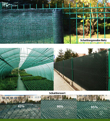 HDPE Zaunblende Tennisblende Sichtschutz Zaun Netz Schattier Gewebe Windschutz 8