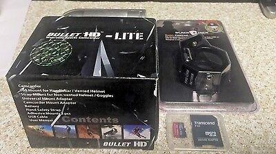 HD Fire Fighter Video BULLETHD Helmet Cam Camera Waterproof BlackJack 16GB SD 2