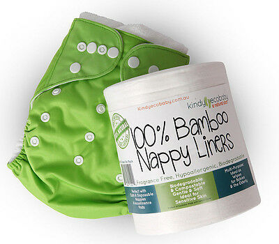 250 x Bamboo Flushable Nappy Liners/Inserts Nappy Cloth, Baby Diaper liners 11