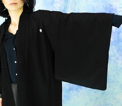 High-Quality   Japanese kimono   KURO-TOMESODE 160cm(62.9inch) 3
