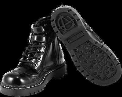 Shoes Brown Flock leopard 7 Eye Anarchic Boots Sizes US 9 T.U.K