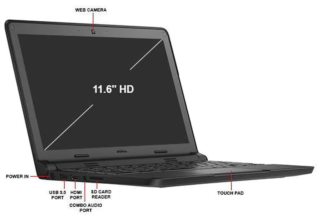 Dell Chromebook 11 TOUCHSCREEN Students Laptop Computer Dual Core SSD WiFi HDMI 4