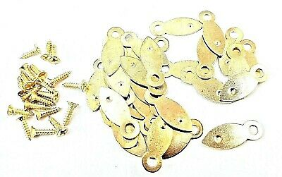 Picture Frame Turn Buttons 19mm Brassed With Screws x 10 or 100 Artist Crafting 2