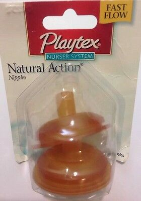 PLAYTEX OLDER BABY FAST FLOW FLAT TOP NIPPLES DISCONTINUED HARD TO FIND FREESHIP
