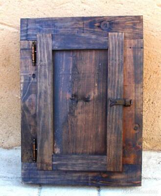 ventanuco rustico de madera con reja hierro forjadas, medida 50 alto x 40 cm 2