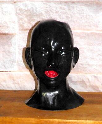 Latexmaske Kopf Voll-Maske anatomisch mit Mundauskleidung und Nasenschläuchen 4