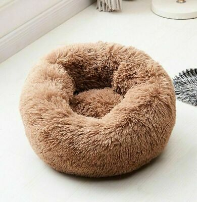UK Comfy Calming Dog Cat Bed Round Super Soft Plush Pet Bed Marshmallow Cat Bed 6