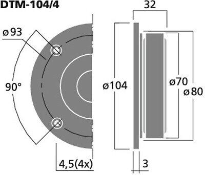 2x 10cm 4 hocht ner 100mm tweeter 4 ohm boxen monacor. Black Bedroom Furniture Sets. Home Design Ideas