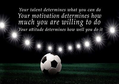 David Beckham 2 Football Motivation Determination Quote Poster Print
