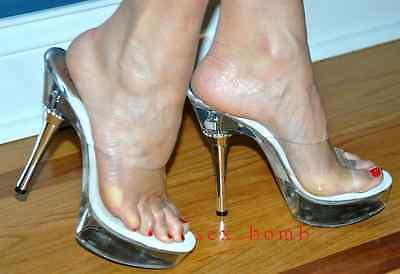 SEXY sabot SANDALI TRASPARENTI tacco STRASS 14 dal 35 al 43 fashion GLAMOUR ! 2