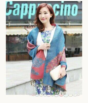 US SELLER- 20 Discount Scarves retro paisley peacock wholesale pashmina shawls 6