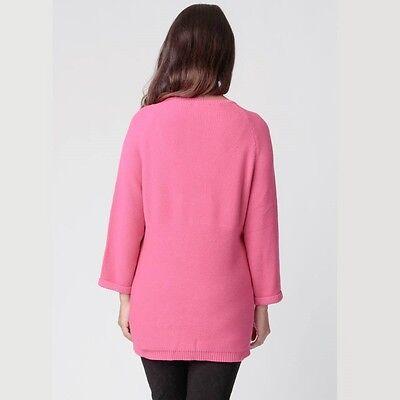 Ripe Maternity Raglan Button Knit Lollie Pink Pregnancy & Nursing 10 12 14 16