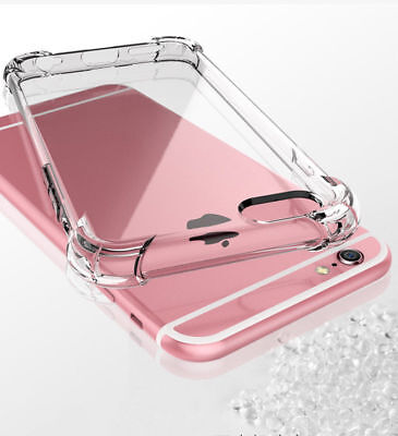 For Apple iPhone X/8/7 Plus Ultra Thin Transparent Clear Shockproof Bumper Case 2