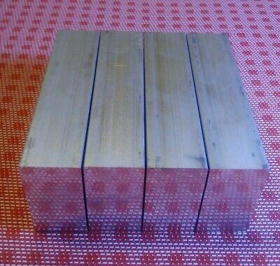 """4 pc 1"""" X 2"""" X 4"""" aluminum 6061 T6 new solid plate flat bar stock mill block MT 2"""