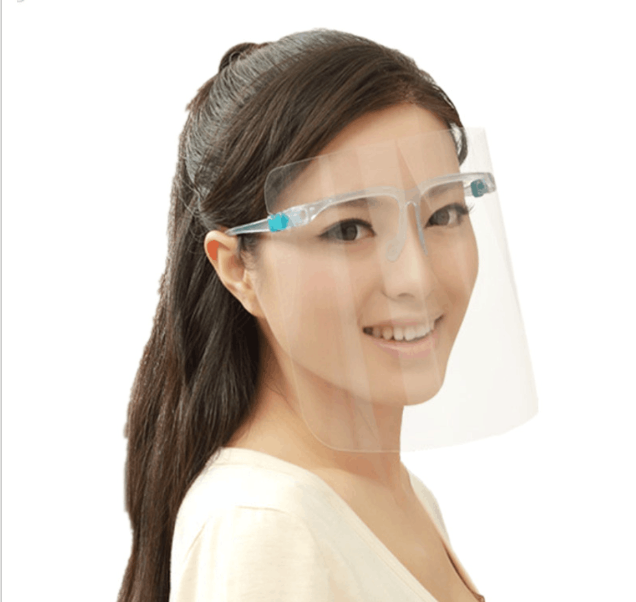 Face Shield  -  Safety Clear Transparent Face Shield with Glasses  Anti Fog 2