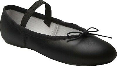 Ballet Dance Leather Shoes Full Sole Children's and Adult's Sizes 3