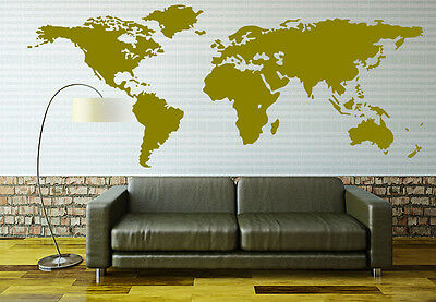 X large world map wall sticker home decor decal uk rui164 314 3 of 7 x large world map wall sticker home decor decal uk rui164 gumiabroncs Image collections