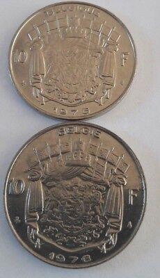 10 Francs, 10 Frank 1969 -1979 Belgique Belgïe Belgium Baudouin FR NL KM# 155 9