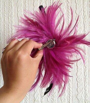 plum pink purple fascinator millinery feather brooch hair clip wedding ascot 4