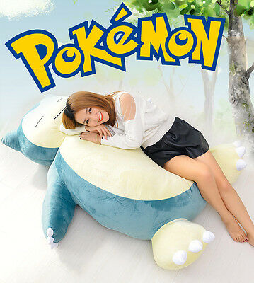 "59"" Pokemon Giant Snorlax Stuffed Plush Kabigon Doll Bed Xmas Kids&GF Gift - EMS 4"