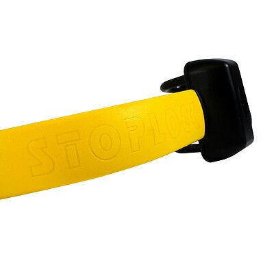 Stoplock Pro Elite Yellow Anti Theft Security Steering Wheel Lock to fit Audi A6 6