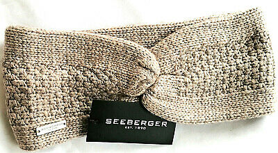 Seeberger Stirnband mit Knoten Strickstirnband Strick Kaschmir Kaschmirwolle