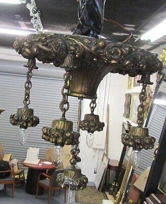 Antique Cast 50 Lb Baroque Style Deco Era Chandelier_ Price Reduced 65% Bargain! 3