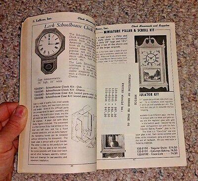 Vintage Book 1975 KEEP BOOK S LaROSE CLOCK MOVEMENTS & SUPPLIES Greensboro NC 2