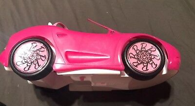 Mattel BARBIE Pink Chevy Convertible Glam Drop Top 2 Seater Car 7