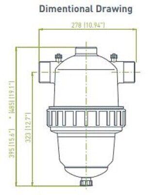 """5/"""" L x 2/"""" ID Amiad 11-1203-1005 Water Filter Screen Orange"""