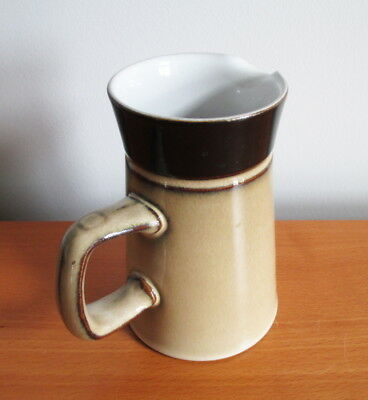 "Denby Country Cuisine 8 oz Creamer Pitcher 5"" Tan Brown Stoneware 1980s England 2"