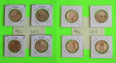 #2s 2018 PD  Pos A&B 4 Coins $1 Native American- Mint Bags 3