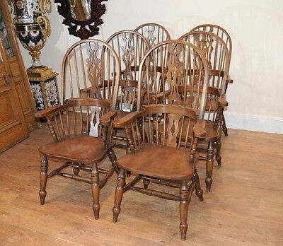Set 6 Windsor Arm Chairs Armchairs Oak Farmhouse 4 • £2,400.00