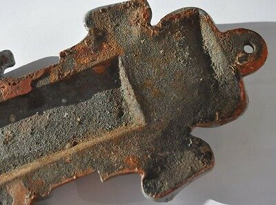 Late 19th Century Imperial Russia LARGE Sign F. STAUDEN RIGA Cast Iron 4