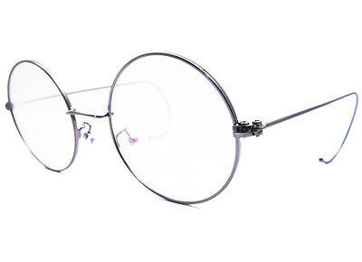 fe6f4329227 ... Agstum Retro Round Optical Rare Wire Rim Mens Eyeglass Frame Large size  49mm 3