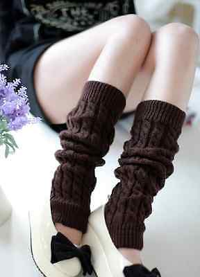 LEG WARMERS Stocking Legging High Knee Wool Knitted Womens Knit Ankle Socks Lot