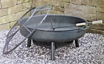 Garden Feelings Feuerschale Feuerkorb ∅ 75 cm mit Funkenschutz Schürhaken NEU