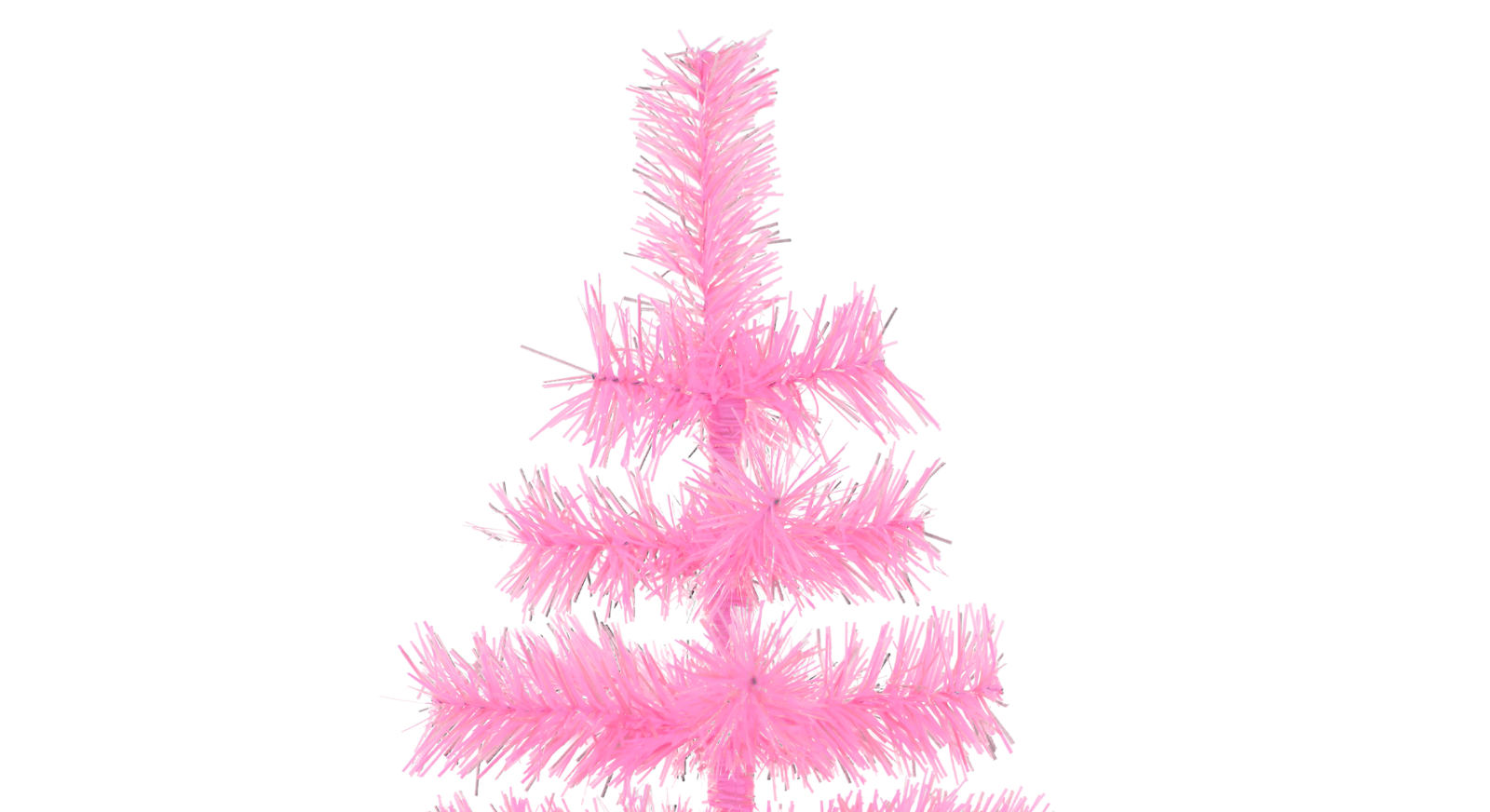 18'' Pink Barbie Tinsel Tree Christmas Holiday Tree 1.5FT Table-Top XMASS 3