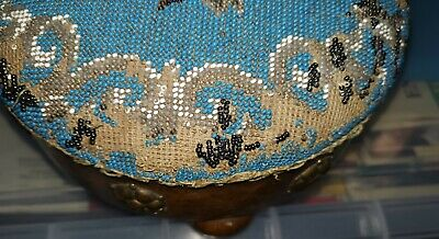 A Pair Of Antique Beaded Foot Stools 5