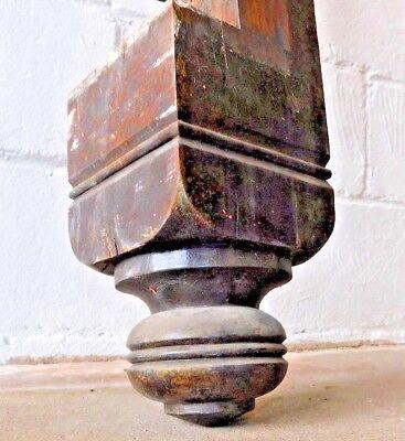 Antique Victorian Style Half Newel Post - C. 1880 Walnut Architectural Salvage 5