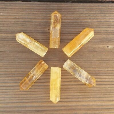 Natural Citrine Single Terminated Gemstone Crystal Pencil Point (One) 3